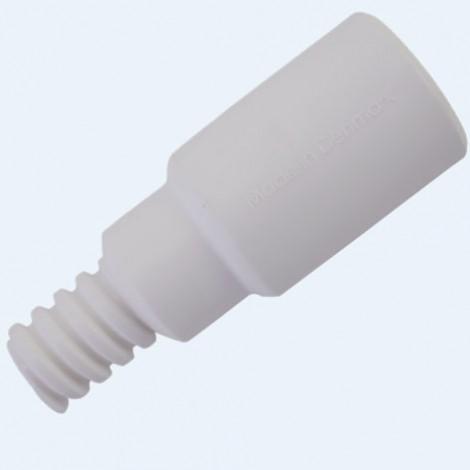 Adaptador con paso de agua, Ø25 mm, 85 mm, Blanco