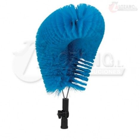 Cepillo flexible, 530 mm, Cerdas Blandas, Azul