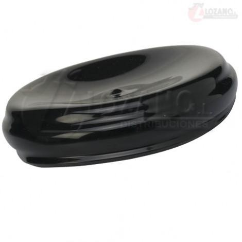 Tapa plástica para contenedor en negro