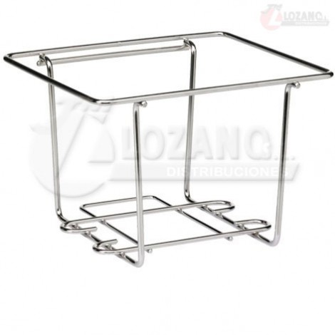 Estante de acero inox. de 285x195 mm.