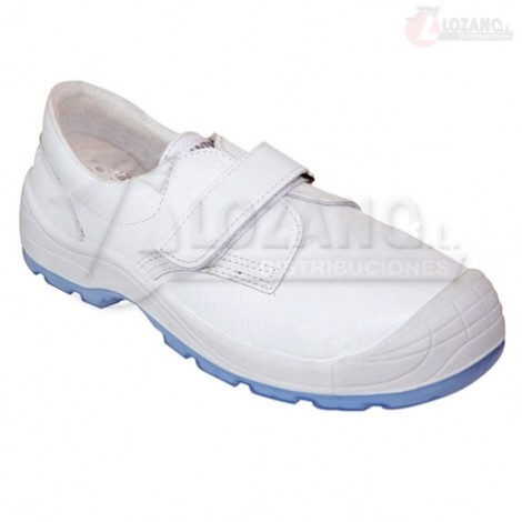 Zapato de Seguridad Blanco Panter Diamante Velcro Totale