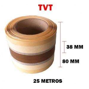Teflón marrón con dos adhesivos laterales de celulosa