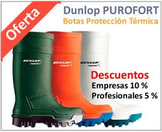 Oferta botas de agua Dunlop protección térmica